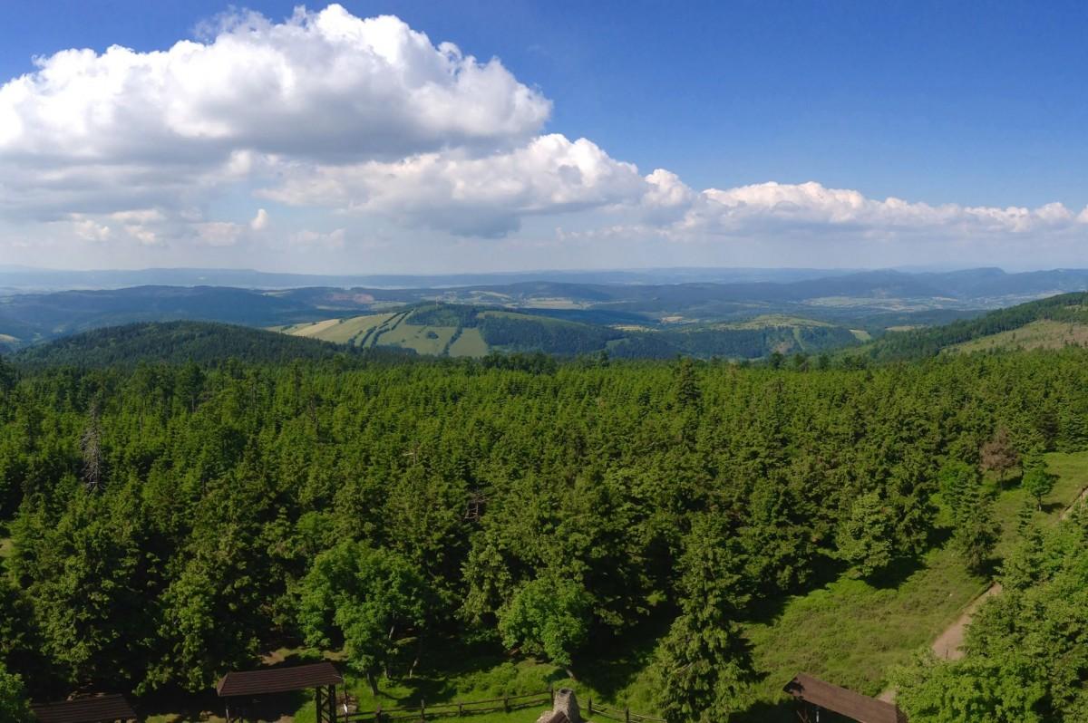 Panorama - widok z Wielkiej Sowy - fot. Piotr Skrzyszewski