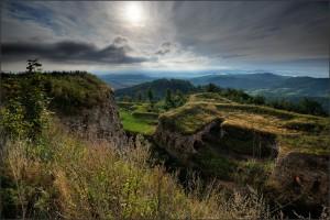 Forty Srebrna Góra - z lotu ptaka